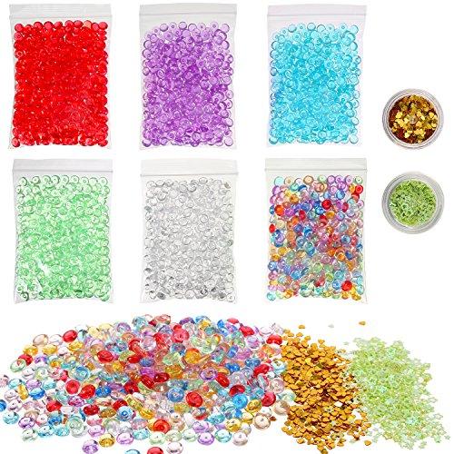 Fishbowl Perlen Glitter für Schlamm, 6 Packung Handwerk Vase Filler Perlen Mehrfarbig, DIY Kunst Handwerk für Hausgemachte Schleim, Hochzeit und Party Dekoration