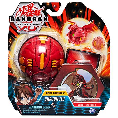 Bakugan 6054794 - Deka Jumbo Ball Pyrus Draganoid, rot, Sammelfigur