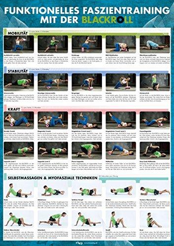 funktionelles faszientraining mit der blackroll Funktionelles Faszientraining mit der BLACKROLL®: Großes DIN-A1-Poster mit 30 Übungen für Mobilität, Stabilität und Kraft sowie zur Selbstmassage