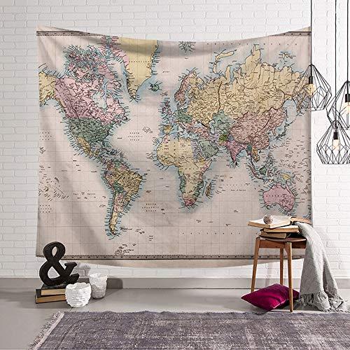 Tapiz Pared Creativo,Morbuy Mapa mundo 150 x 200