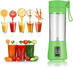 Meya Happy Plastic Instant Juicer Mixer Grinder Portable USB Powered, Rechargeable Plus Drinking Bottle ,Size (2 Cup) (MH-1233A, Multi-Colour)