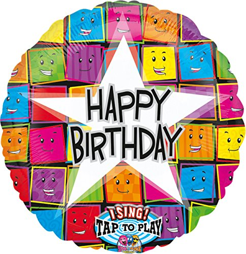 amscan 12645 01 Folienballon Sing-A-Tune Happy Birthday