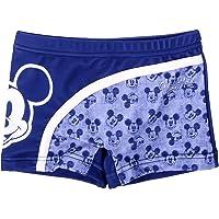 Costume da Bagno Boxer Mare Bambino Topolino Mickey Mouse Disney | Rosso Blu | 6-12 -18 Mesi 2-3 - 4-5 - 6 Anni