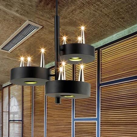 Rbb illuminazione decorativa personalizzata candelabro candeliere candela vintage american village cancello in ferro battuto ingresso salone industriale lampade per ristoranti e bar 410 * 410mm,b