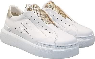 Tosca Blu Rodi SS2024S466 Sneaker da Donna in Pelle Bianca
