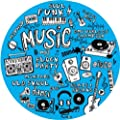Dmc Mix Up Turntable Slipmats - Blue with Black/White Print