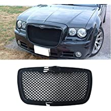 VIOJI 1pc Glossy Black Strong ABS Plastic Mesh Style Front Main Upper Grille Fit 05-