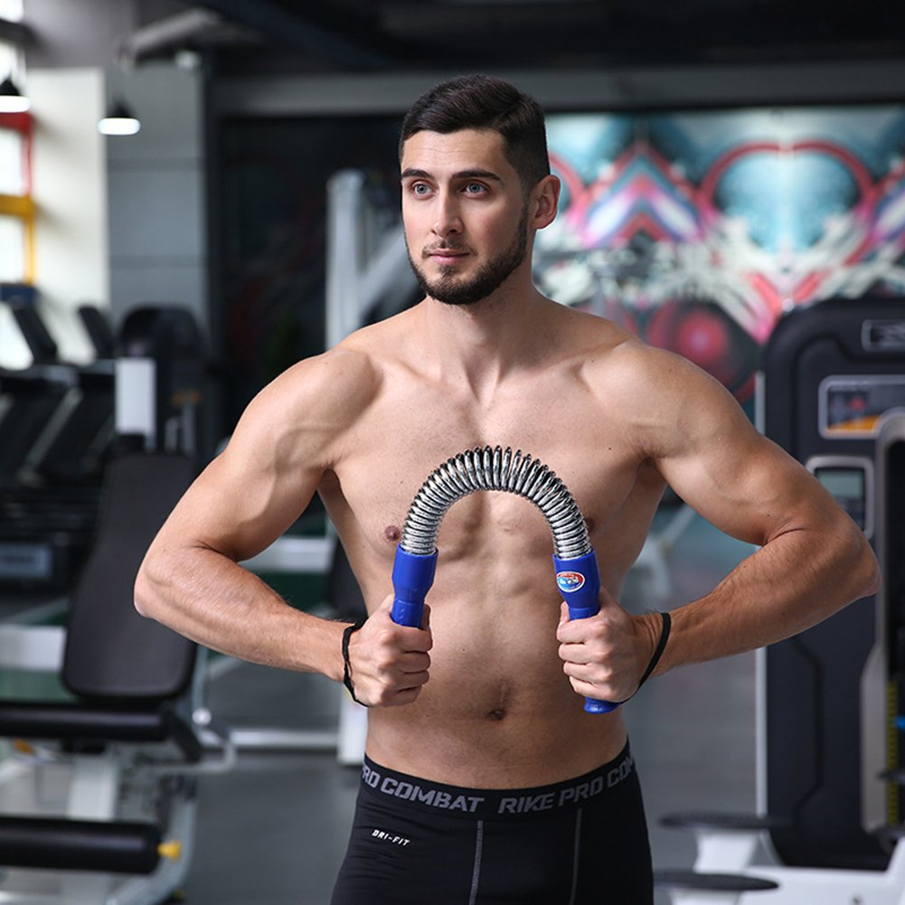 Power Twister Profesional M/áquinas de Brazo Barra Flexible Pectorales de Fitness Barra Musculaci/ón Sports Arm Trainer 10-150kg