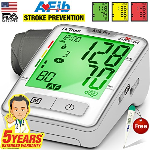 Dr. Trust (USA) Automatic Digital Blood Pressure Testing Monitor (White)