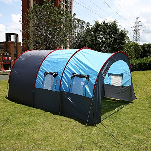 ANCHEER Family Tunnel Tent 6 Man ... & ANCHEER Family Tunnel Tent 6 Man with Porch Waterproof Large Group ...