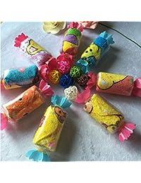 Reixus (TM) super mignon bonbons design Serviettes de lavage doux Cartoon al¨¦atoire pour b¨¦b¨¦ Enfants meilleur X-mas cadeaux!