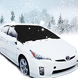 Frost Windshield Cover, Migimi Car Windscreen Snow Cover For Winter Snow Removal, Car Windshield Sunshade, Ice & Frost Guard Fits Suv, Truck & Car Windshields, Magnetic Snow Multi-used As Outdoors Picnic Mats (215*125cm)