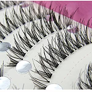 Generic 0.20mm, Mix: Women' s Fashion New Japanese Style Black 10 Pairs High-quality Eyelashes HS-08