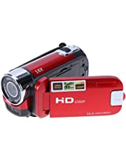 VIPECO Digital Video Camera Full HD 1080P 32GB 16x Zoom Camcorder DV Camera(Red)