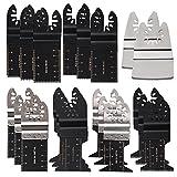 Oxoxo legno/nail misti lama per sega oscillante Multitool Quick Release set compatibile con Bosch, Fein, Black and Decker, Chicago, Craftsman Bolt-On, DeWalt, Dremel multi-ma 26PCS