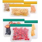 OrgaWise Sac Congelation Reutilisable, 6 Pcs Multifonction Sac Réutilisable Silicone pour Nourriture pour Légumes Fruits et V