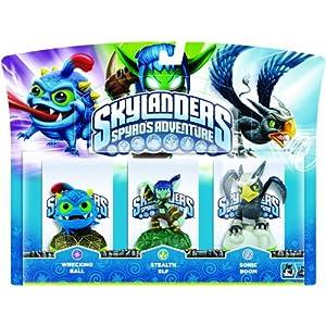 Skylanders – Triple Pack D: Stealth Elf, Wrecking Ball, Sonic Boom
