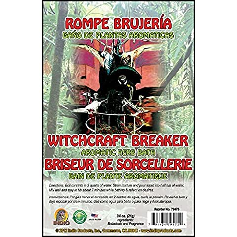 Witchcraft Braker Bath Herbs 0.75oz Jar by Indio Products