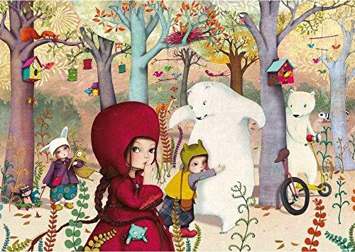 Puzzle 24 pièces - Puzzle en bois découpé à la main - Lebot Sophie : Rencontre en forêt