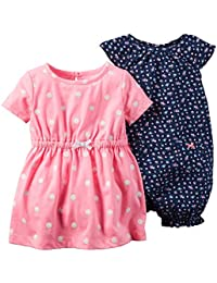 Carters Baby Girls-2-Piece Neon Dress &Romper Set
