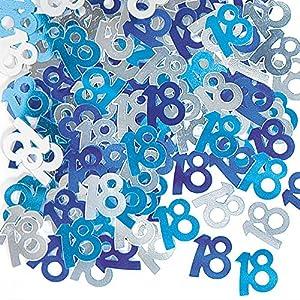 Gifts 4 All Occasions Limited SHATCHI-155 - Confeti para decoración de mesa (14 g, 18 cumpleaños), color azul