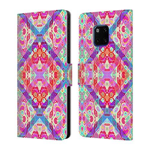 Head Case Designs Offizielle Amy Sia Gypsy Luxe Kaleidoscop 2 Leder Brieftaschen Huelle kompatibel mit Huawei Mate 20 Pro - Gypsy Leder