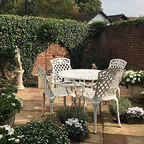 Salons jardin rond Blanc