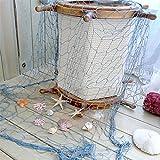 Gluckliy Fischernetz Dekoration Wandkunst Dekor Home Schlafzimmer DIY Fishing Net Hängende Deko, 100*200cm (Blau)