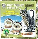 Ducomi - KatWC - Training Kit pour Dressage Chats - Addroyer Le Chat à Utiliser la Toilette - Alternative à la litière Chats - WC Chat - Système de Formation à l'utilisation des Toilettes pour Chats