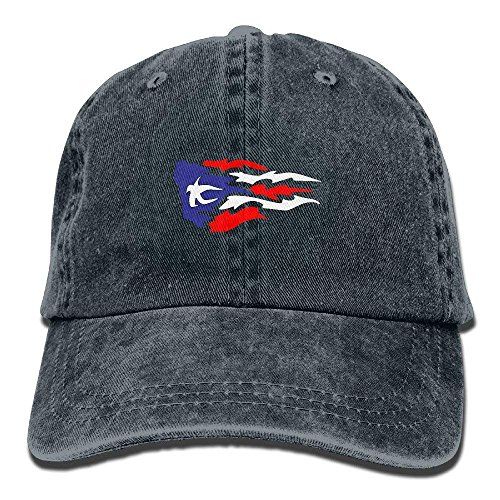 Flag Creative Baseball Caps Denim Adjustable Hats 0744 ()