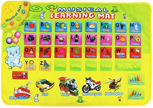Kiddie Play Alphabet ABC Musical Learning Toy Floor Mat with Lights and Sounds