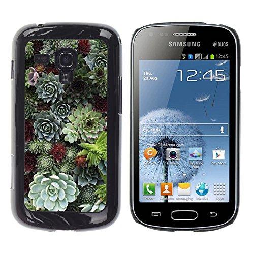 WonderWall Carta Da Parati Immagine Custodia Rigida Protezione Cover Case Per Samsung Galaxy S Duos S7562 - cono albero foresta verde