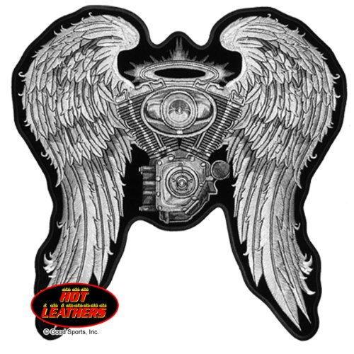 ladies-asphalt-angel-high-thread-embroidered-iron-on-saw-on-rayon-biker-patch-10-x-10