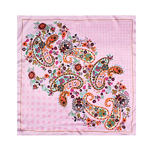 Noël Black Friday Mode Femme jolie Echarpe Foulard à pois carré 60*60cm en satin Multicolore