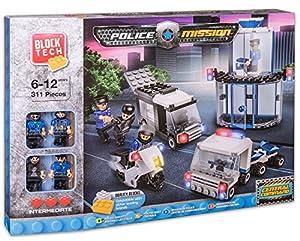 JUINSA- Construcción Comp Lego Policía con 311 Piezas, 40 x 28 cm (81476)