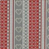100% Baumwolle Stoff | Rot, Grau, Cremebeige und Cremeweiß