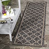 "2' x 3'7\ , Natural / Black : Safavieh Courtyard Collection CY8471-37312 Natural and Black Indoor/ Outdoor Area Rug (2' x 3'7"")"