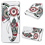 KASOS Sony Xperia XA Case, Elephant Printing Transparent Clear Soft TPU Case Slim Thin Anti Slip Case Back Protective Cover Case for Sony Xperia XA
