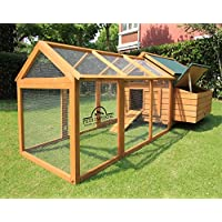 Pets Imperial® Marlborough Large Chicken Coop With Run Suitable For up 6 Birds With Single Nest Box - Easy Clean Leaning Tray