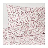 ikea hassleklocka Duvet Cover and Pillowcases White Pink 203.902.77 Full/Queen