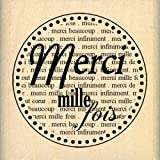 Florilèges Design FD208033 Tampon Scrapbooking Merci Mille Fois, Beige