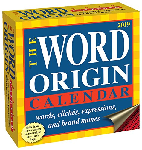 Word Origin 2019 Day-To-Day Calendar - Desktop-kalender-easel