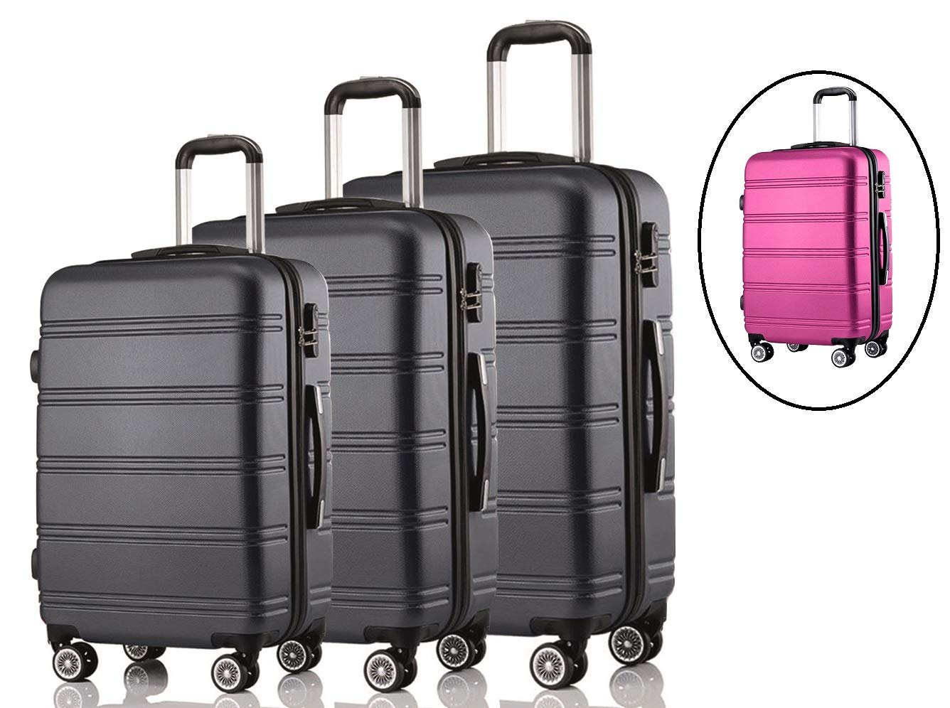 3-teiliges-Premium-Koffer-SetReisegepck-SetHartschalenkoffer-Set