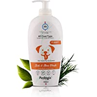 Petlogix Natural Tick & Flea Wash Shampoo Infused with Citronella & Lemongrass Anti Itch Coat Cleanser for Pet Dogs…