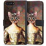 Apple iPhone 8 Plus Tasche Hülle Flip Case Katze Cat Kitty