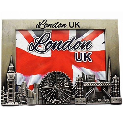 Metall-Bilderrahmen–London UK Souvenir Bilderrahmen–London Icons Metall-Bilderrahmen–Big Ben, London Tower Bridge, London Eye 8x 12cm von awnhill (P185)