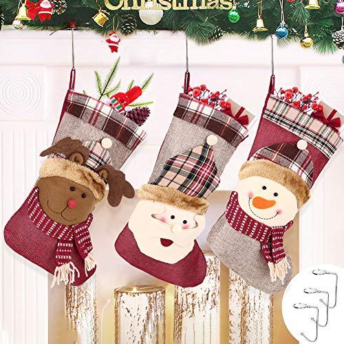 Medias Navidad 3pcs Calcetines Decoración Navideña
