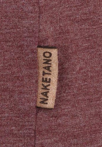 Naketano Female Shortsleeve Hoch Die Hände II Heritage Bordeaux Melange