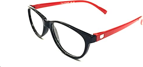 FashioNext Cat Eyed (Black-Red) Girls Spectacles Frames (FNS0183)