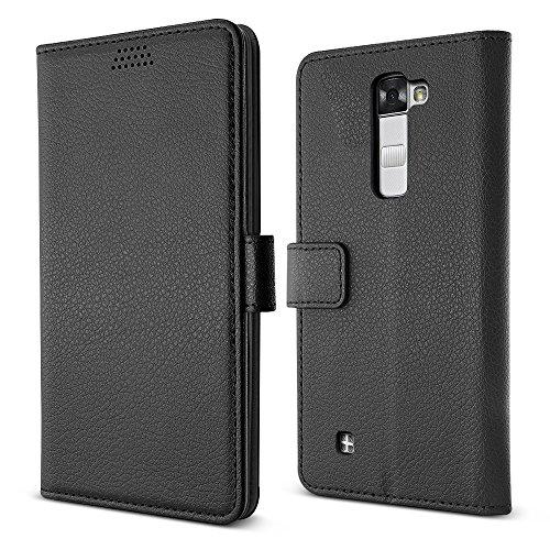 Lg Mobile Virgin (LG Stylus 2 V Fall / LG Stylo 2 Fall, BELK Soft PU Leder Flip Wallet Case mit langlebigen TPU-Abdeckung für LG Stylo 2 V VS835, LS775 (Sprint, Virgin Mobile, Boost Mobile, Cricket, LTE) - Schwarz)